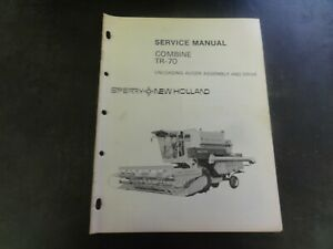 New Holland Tr 70 Combine Unloading Auger Assembly Drive Service Manual
