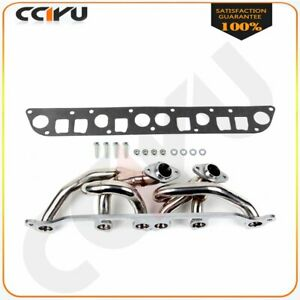 Stainless Steel Exhaust Header Manifold For 00 06 Jeep Wrangler Tj 4 0l