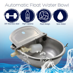 24cmx24cm Auto Stainless Steel Farm Water Bowl Float Valve Drinking Stock Horse