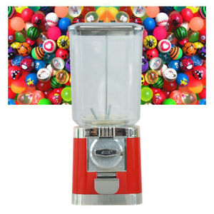 Vintage Gumball Machine Candy Vending With Stand Bubble Gum Dispenser Bank