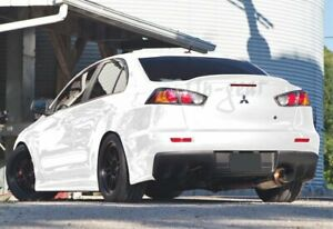 For 08 17 Mitsubishi Lancer Evo 10 Painted White Rear Trunk Duck Lid Spoiler