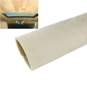 Beige Upholstery Headliner Fabric Replacement Old Aging Headlining Suede 54 X60