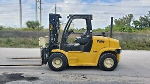 2013 Yale Forklift 15500 Lbs Glp155vx Low Hours Pneumatic Lpg
