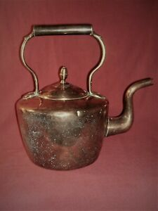 Antique French Dovetailed Copper Tea Kettle C1880
