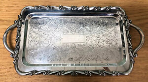 Vintage Fb Rogers Silver Co Relish Tray With Handles