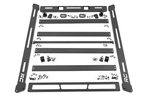 Rough Country Roof Rack System W o Led Lights For 18 20 Jeep Jl Wrangler 10612