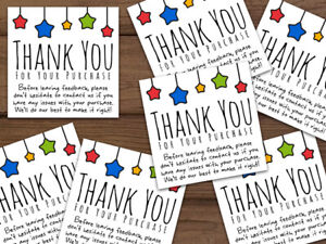Thank You For Your Purchase Ebay Colors Stars Shipping Labels Stickers Custom