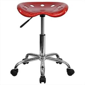 Adjustable Work Shop Small Stool Rolling Tractor Seat Bench Swivel Desk Chair