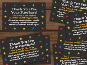 1000 Thank You For Your Purchase Black Ebay Shipping Labels Stickers 2x3 3x2