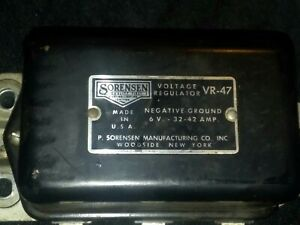 Tn 005 Sorensen Vr 47 Voltage Regulator General Motors 1950s Buick Chevrolet