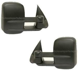 Tow Mirrors For Chevy Silverado Sierra Truck 1999 2000 2001 2002 Power Pair