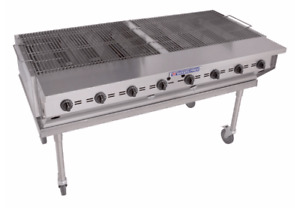 Bakers Pride Cbbq 60s 58 Mobile Gas Commercial Outdoor Grill W Water Pans Nat