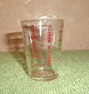 Vintage Science Products Garden Measure Glass Beaker 4 Measure 1 Oz 6 Tsp