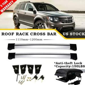Pair Roof Rack Cross Bar Rails Luggage Bike Carrier Lock For Dodge Journey 09 16
