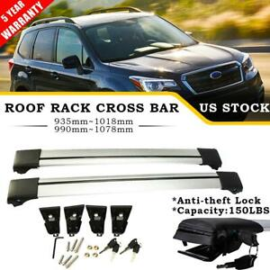 Pair Aluminum Roof Rack Cross Bar Luggage Bike Carrier For 14 18 Subaru Forester