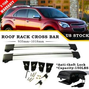 Pair Car Roof Rack Cross Bar Luggage Bike Carrier For Chevrolet Equinox 2010 17