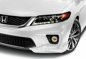 For 13 15 Honda Accord Coupe Painted White Hfp Style Front Bumper Spoiler Lip