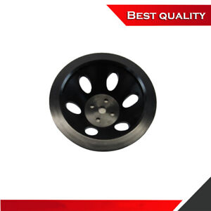 Suit Aluminum Sbc Chevy 350 383 Short Water Pump Pulley 1 Groove Black