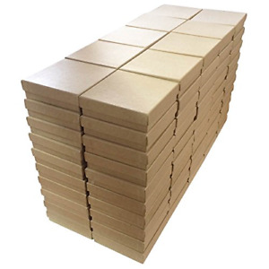 Kraft Cotton Filled Jewelry Box Case Display Packaging Supplies 100 Pieces New
