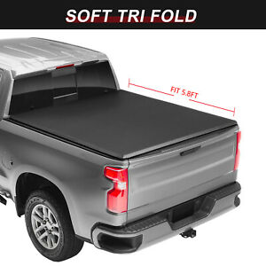 For 2009 2019 Ram 1500 2500 3500 5ft 8in Short Bed Tri Fold Tonneau Cover