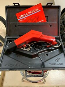 Snap On Computerized Tach Advance Timing Light Mt1261 10 16 Volt With Case