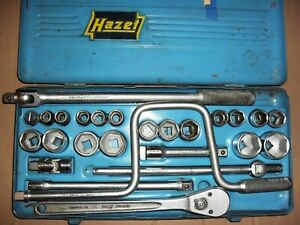 Hazet Ratchet socket Set 1 2 square 900 Metric Mercedes Benz Gullwing Porsche