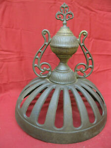 Antique Cast Iron Decorative Parlor Stove Top Finial