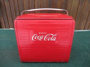 NICE 1950s Red COCA COLA Cooler Chest w/ Lid Drink Soda Picnic Ice Chest