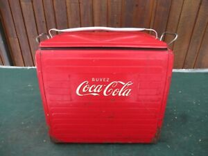 Great 1960s Red COCA COLA Cooler Chest w/ Lid Drink Soda Picnic Ice Chest