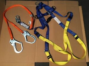 North Fall Protection Harness With Energy Absorbing Lanyard