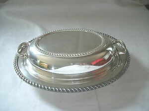 Burche Silver Covered Casserole Dish 523