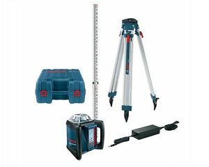 Bosch Grl 500 Hck Self leveling Rotary Laser W Rod And Tripod Package