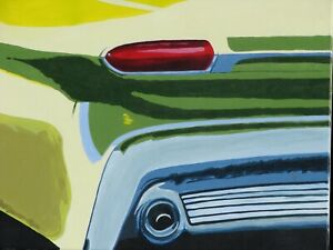 24 X 30 1960 Oldsmobile Original Acrylic Abstract Painting On Canvas Free S