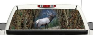 Truck Suv Rear Camo Elk Hunting Window Graphic Decal Perforated Vinyl Wrap 22x66