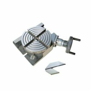 Rotary Table 100 Mm 4 Inches Horizontal And Vertical With Center Square 1 5 Inch