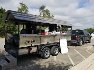 2012 Custom built 7 6 X 16 Open Bbq Smoker Trailer Used Tailgating Trailer F