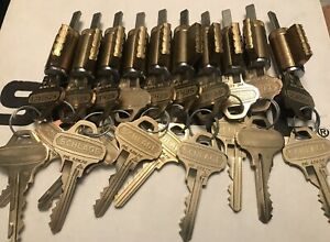 Schlage Original Everest C123 Key Knob lever Cylinders Lot Of 10 Kd W 2 Keys Ea