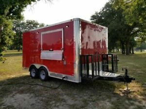 Barely Used 2017 Loaded Freedom 8 5 X 14 Food Concession Trailer