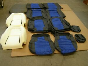 Nos Oem Roush Mustang 2010 Seat Covers Leather W Blue Suede Coupe Ford