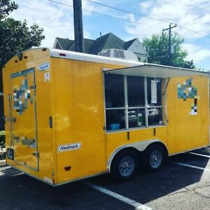 Turnkey 2014 Haulmark 7 X 14 Shaved Ice snowball Concession Trailer For Sale I