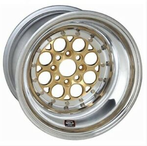 Weld Racing 768 31015g Drag 13x10 Gold polished Magnum Import 4x100 Bp New