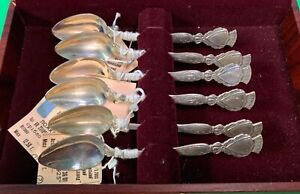 Russian Demitasse Spoons Sterling Silver Set Of 6