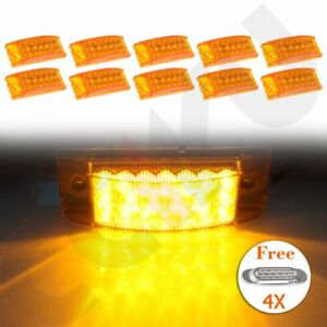 10pc Universal Amber 20 Led Car Side Marker Lights 4x 16 Led Turn Signal Lamp