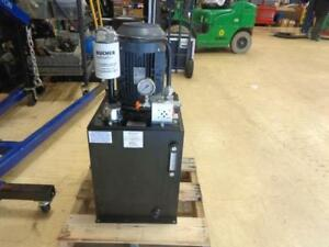 Monarch Hydraulic Power Unit 5 Hp 208 230 460vac 2500 Psi 3 Gpm 38vp28 Bsr