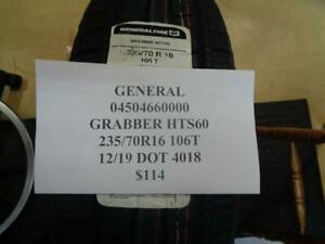 1 New General Grabber Hts60 235 70 16 106t Tire Wo Label04504660000 Q9