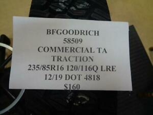 1 New Bfgoodrich Commmercial Traction 235 85 16 120 116q Lre 58509 Q9