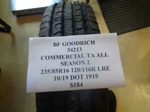 1 New Bfgoodrich Commercial Ta A s 2 235 85 16 120 116r Lre Tire 34213 Q0 Bsr