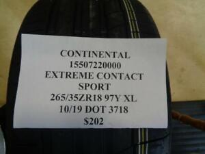 1 New Continental Extreme Contact Sport 265 35 18 97y Xl Tire 15507220000 Q9