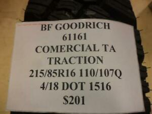 4 New Bf Goodrich Commercial Ta Traction 215 85 16 110 107q Tires 61161 Q9 Bsr