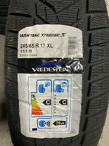 2 New 245 65 17 Vredestein Wintrac Xtreme S Snow Tires